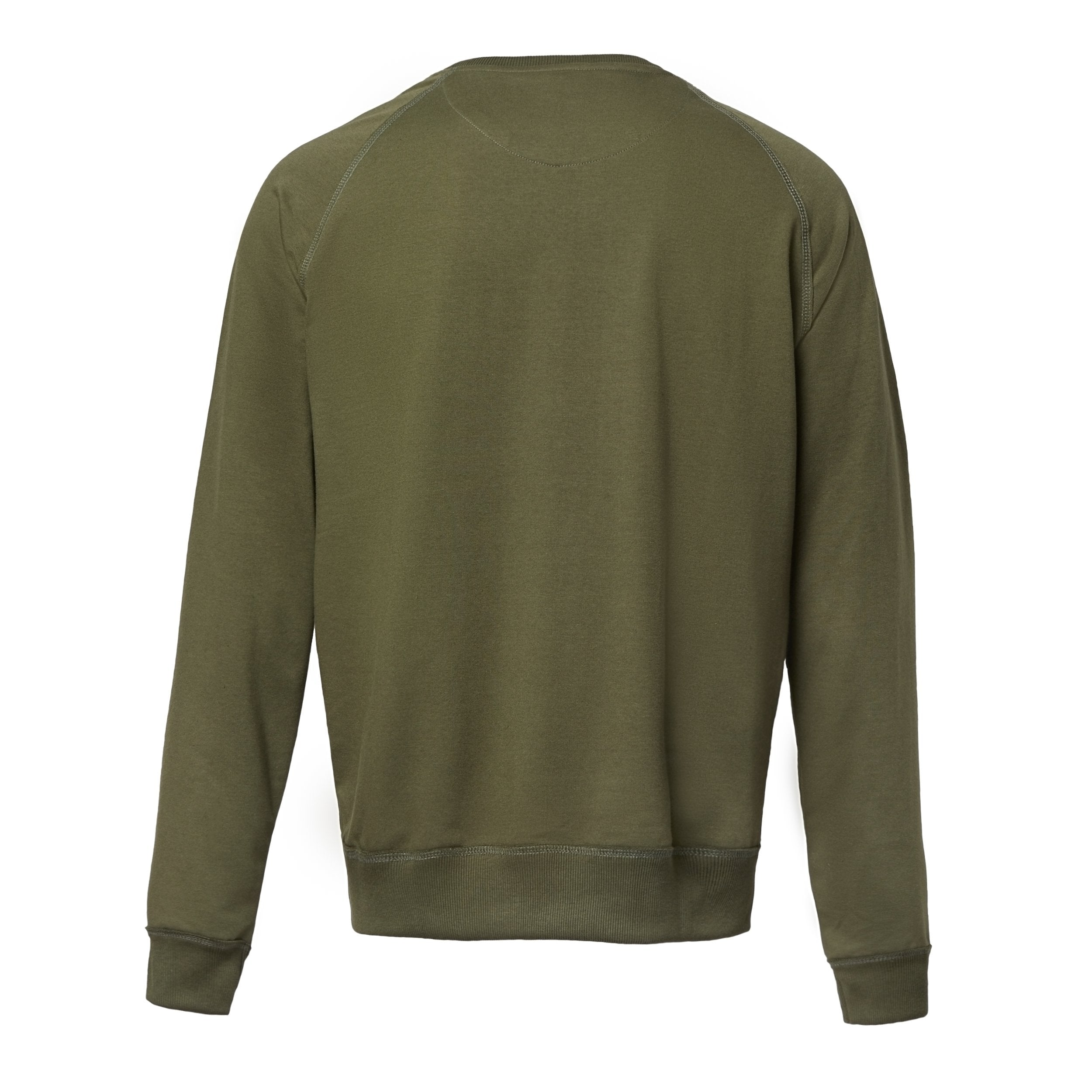 Olive Graphic Cotton Sweatshirt