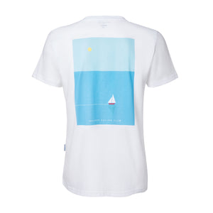 oh captain my captain graphic tee white organic cotton