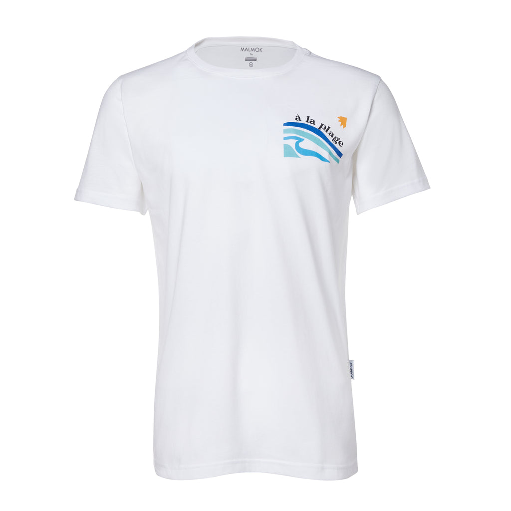 a la plage graphic tee french coast inspired white organic cotton