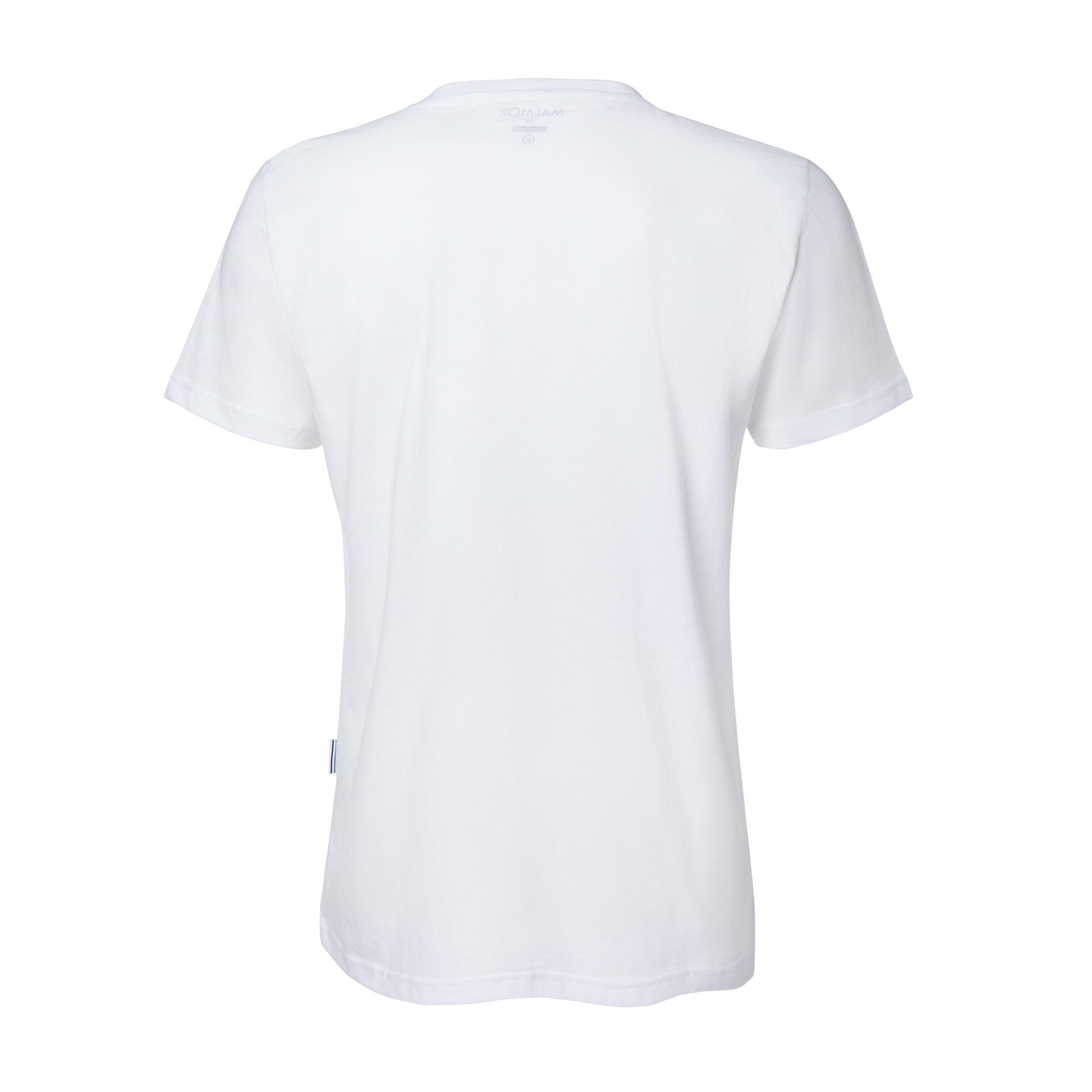 oceans free of plastic organic cotton tee white