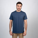 Pocket Square Navy Blue Organic Cotton Tee