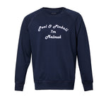 Navy Graphic Cotton Sweatshirt