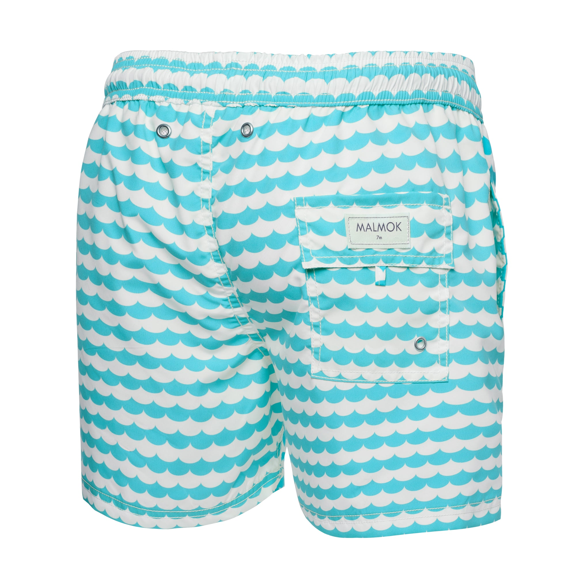 Light And White Square Print Swim Trunk