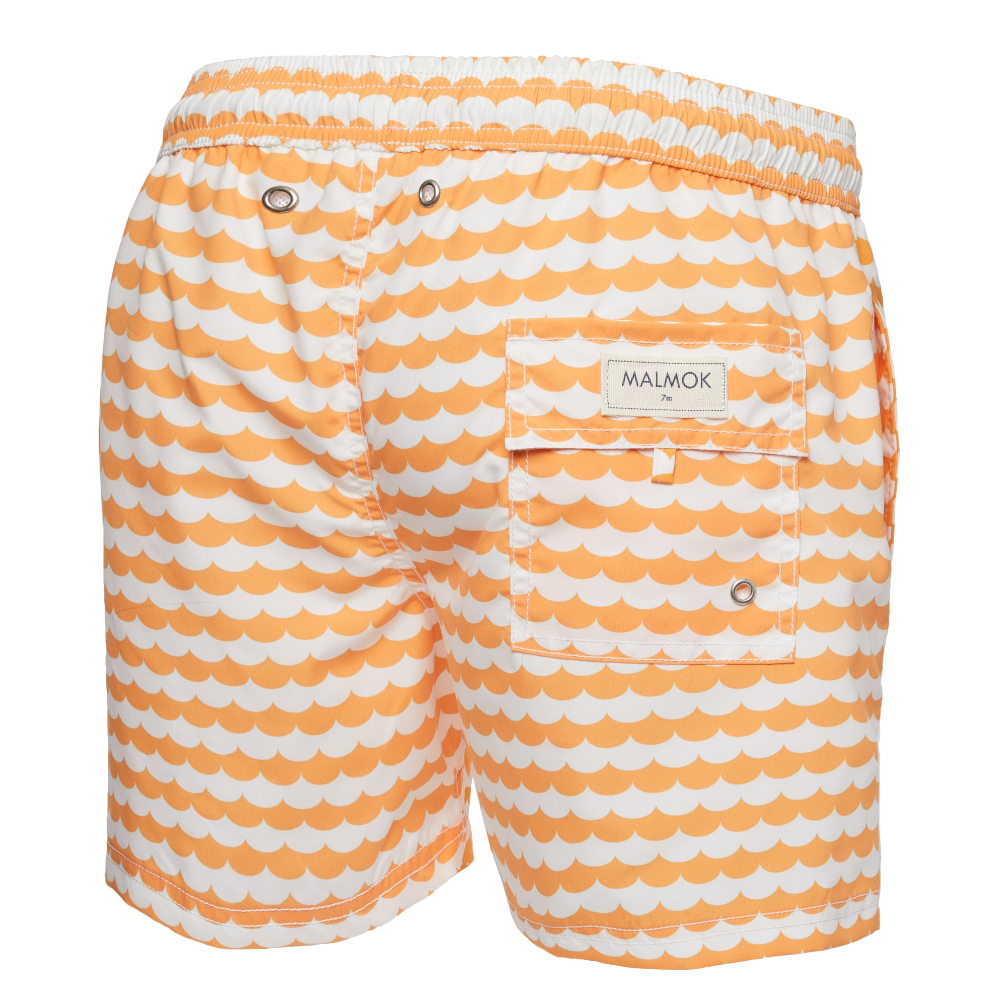 Yellow Wave Print Swim Trunk