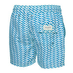 Wavy Blue Print Swim Trunk