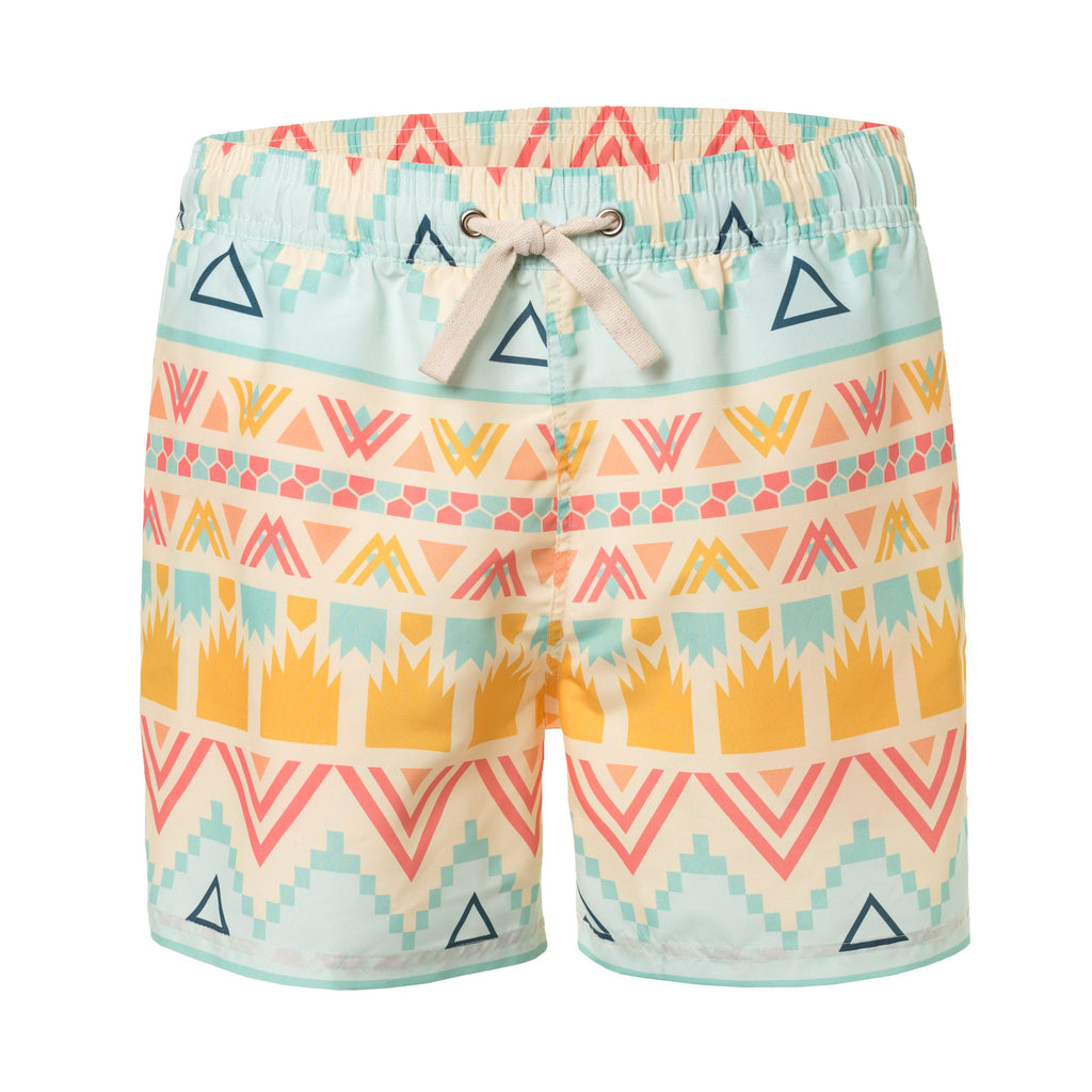 Ethnic Print Men's Swim Trunks