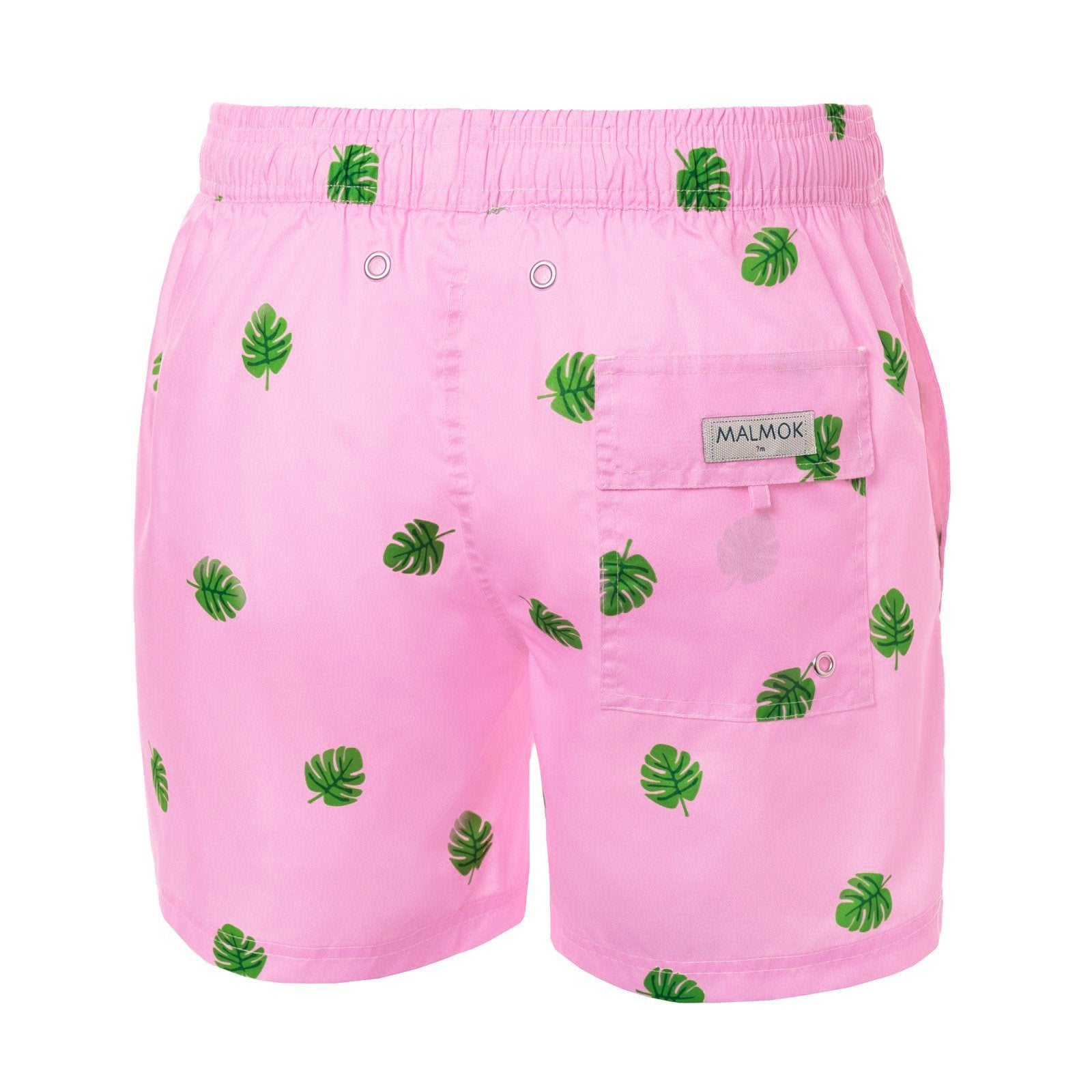 Banana Tree on Pink Men's Swim Trunks