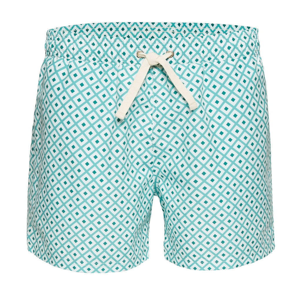 Geometric Men's Swim Trunks