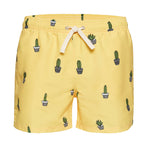 Cactus Yellow Men's Swim Trunks