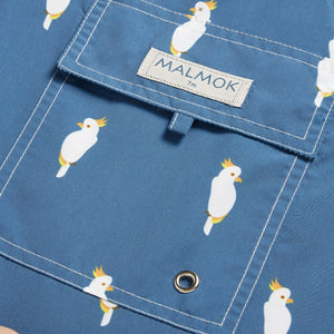Cockatoo Animal Blue Men's Swim Trunks