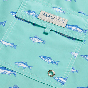Shark Animal Turquoise Men's Swim Trunks
