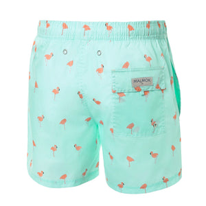 Flamingo Animal Men's Swim Trunks