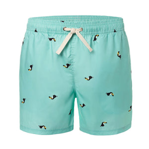 Turquoise Toucan Animal Men's Swim Trunks