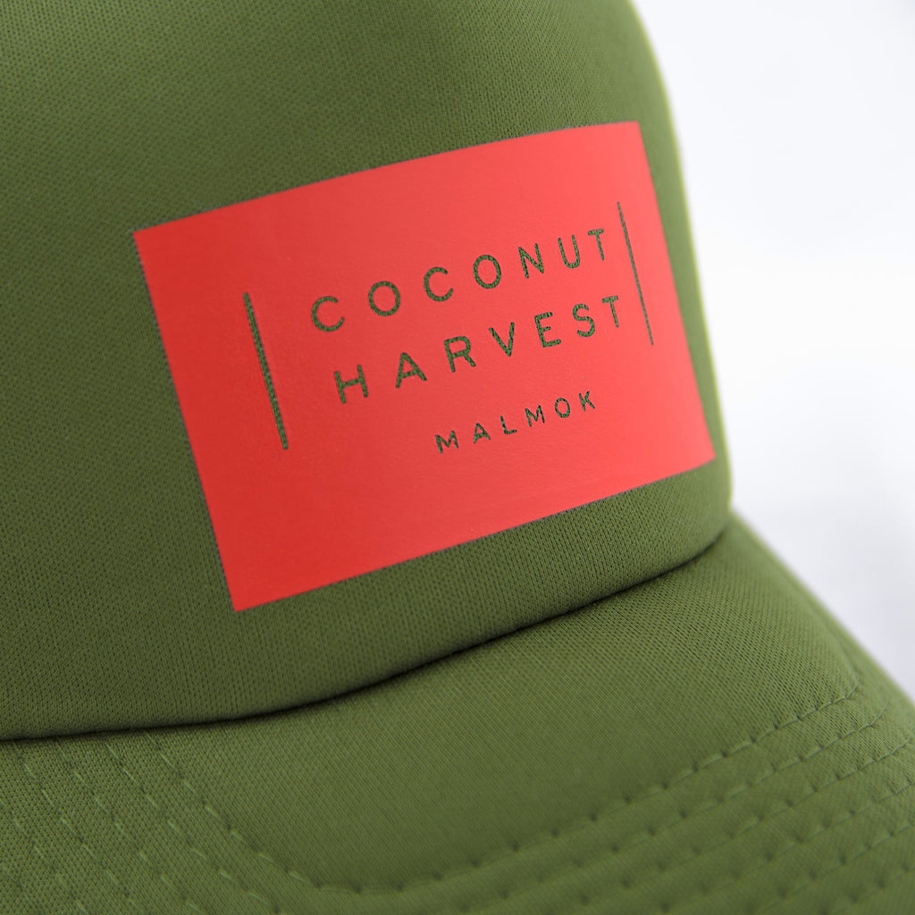 Coconut Harvest Green Orange Cap