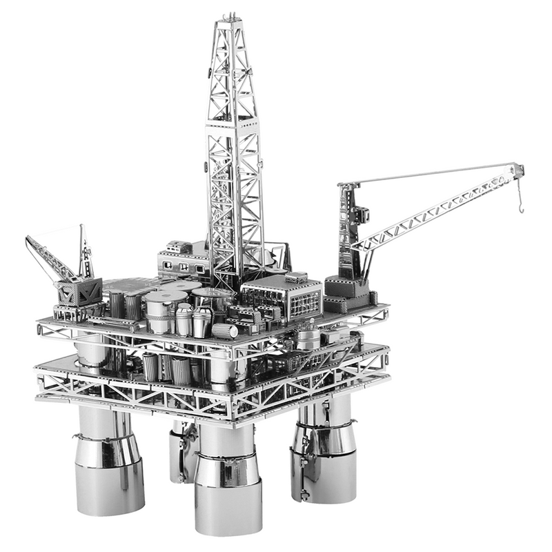 Metal Earth Off Shore Oil Rig & Oil Tanker-Metal Earth-At Play Toys