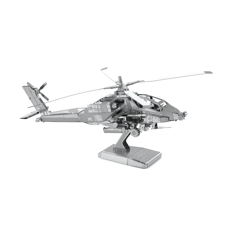 Metal Earth AH-64 Apache Helicopter-Metal Earth-At Play Toys
