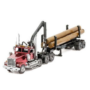 Metal Earth ICONX Western Star Log Truck & Trailer-Metal Earth-At Play Toys