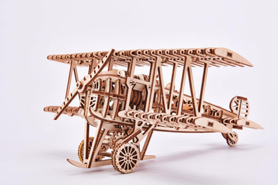 Wood Trick Airplane Biplane 3D Mechanical Model-Wood Trick-At Play Toys