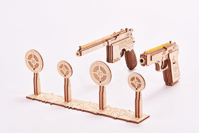 Wood Trick Rubber Band Gun Set 3D Mechanical Model-Wood Trick-At Play Toys