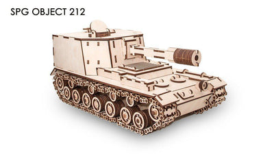 212A Experimental Soviet Tank-ECO WOOD ART-At Play Toys