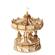Merry-Go-Round 3D Wood Puzzle-Rolife-At Play Toys