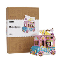 Moving Flavor Ice Cream Truck Music Box Puzzle-Rolife-At Play Toys
