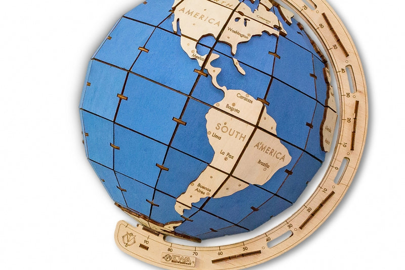 EWA The Globe - Blue Version-ECO WOOD ART-At Play Toys