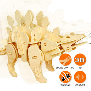 Sound Controlled Walking Stegosaurus Puzzle-At Play Toys