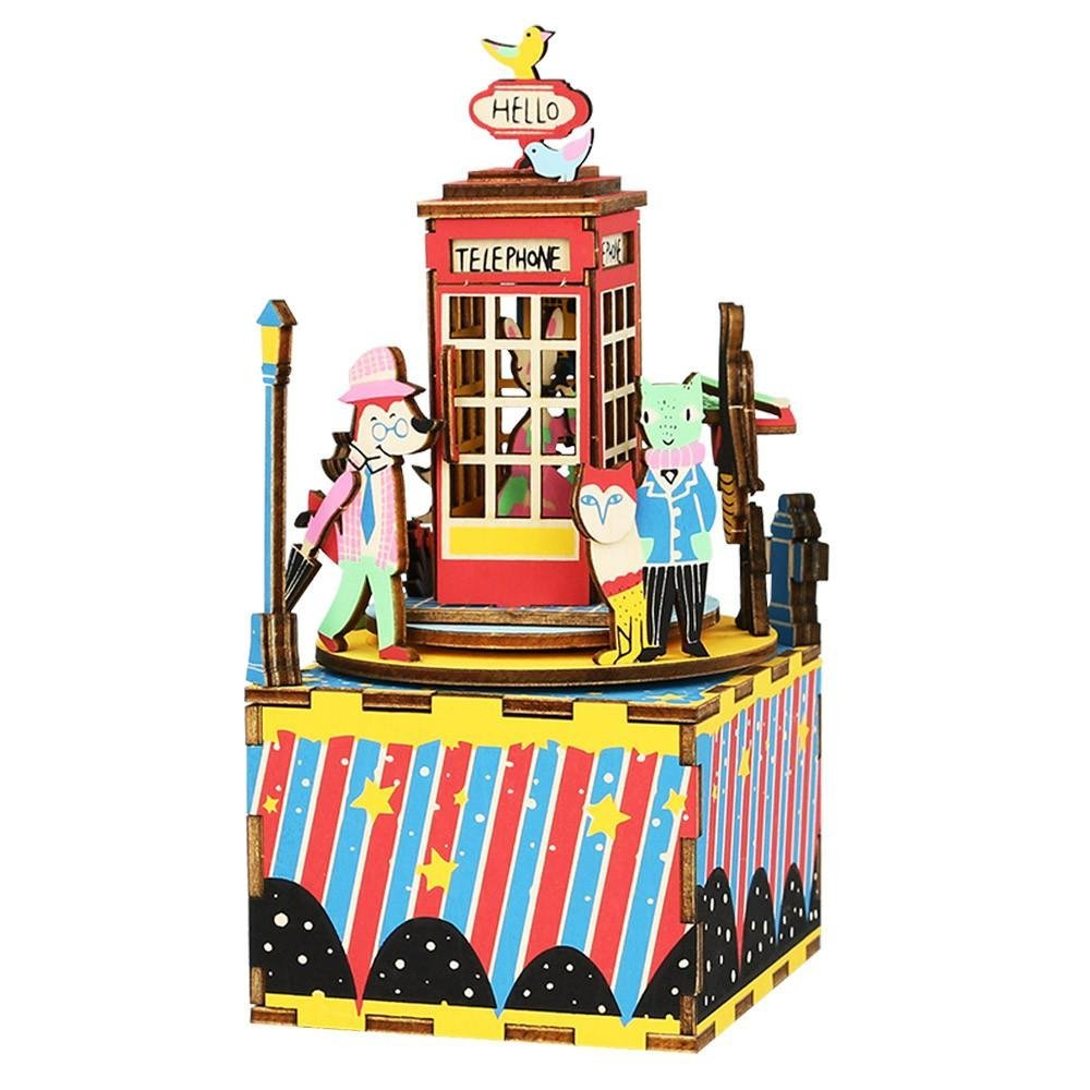 Phone Booth Music Box Puzzle-Rolife-At Play Toys