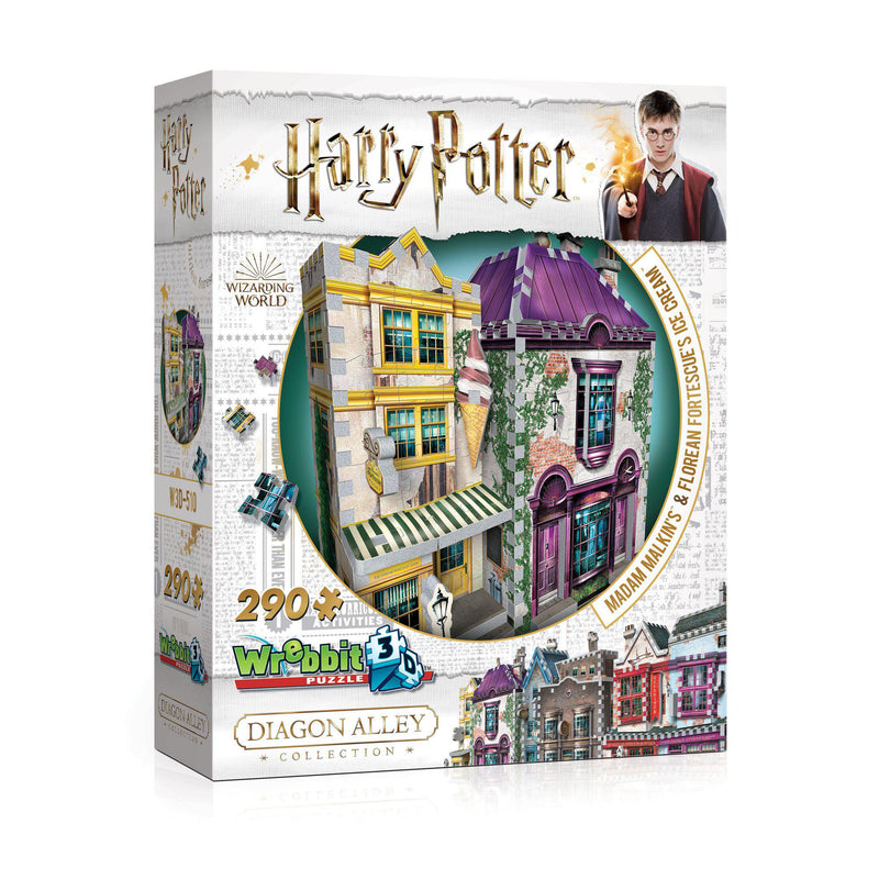 Harry Potter Madam Malkin's and Florean Fortescue's Ice Cream-Wrebbit 3D-At Play Toys