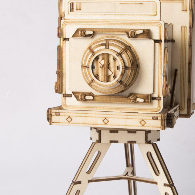 Vintage Camera 3D Wood Puzzle-Robotime-At Play Toys
