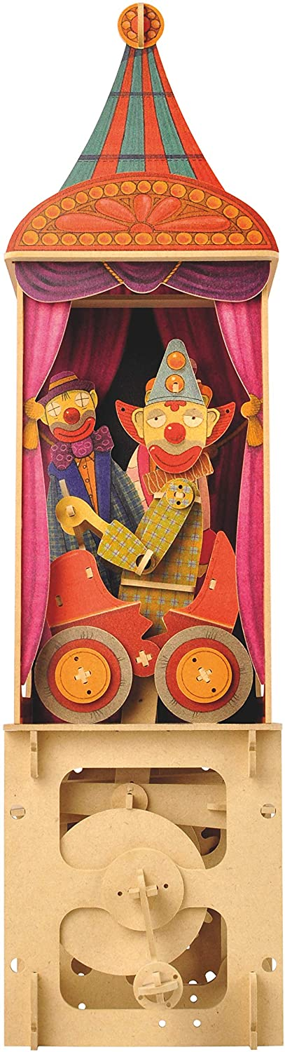 Clockwork Dreams Clowns Circus Series Wood Automata-ModelShop-At Play Toys