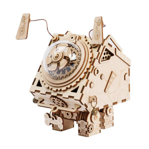 Seymour The Dog Steampunk Music Box Kit-ROKR-At Play Toys