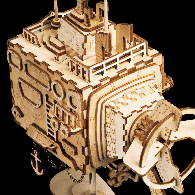 Submarine Steampunk Music Box Kit-ROKR-At Play Toys