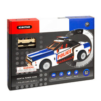 Friction Powered Police Car Kit-Robotime-At Play Toys