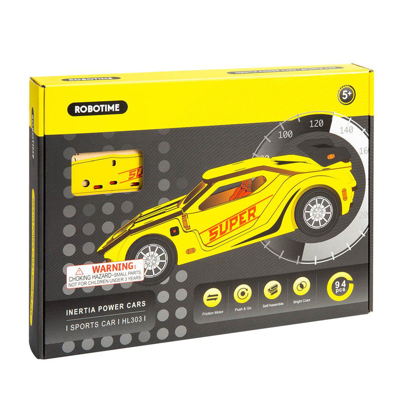Friction Powered Race Car Kit-Robotime-At Play Toys