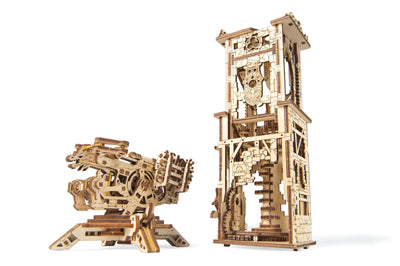 UGears Archballista Tower-UGears-At Play Toys