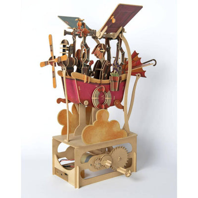 Clockwork Dreams Junk Air Wood Automata Kit-ModelShop-At Play Toys