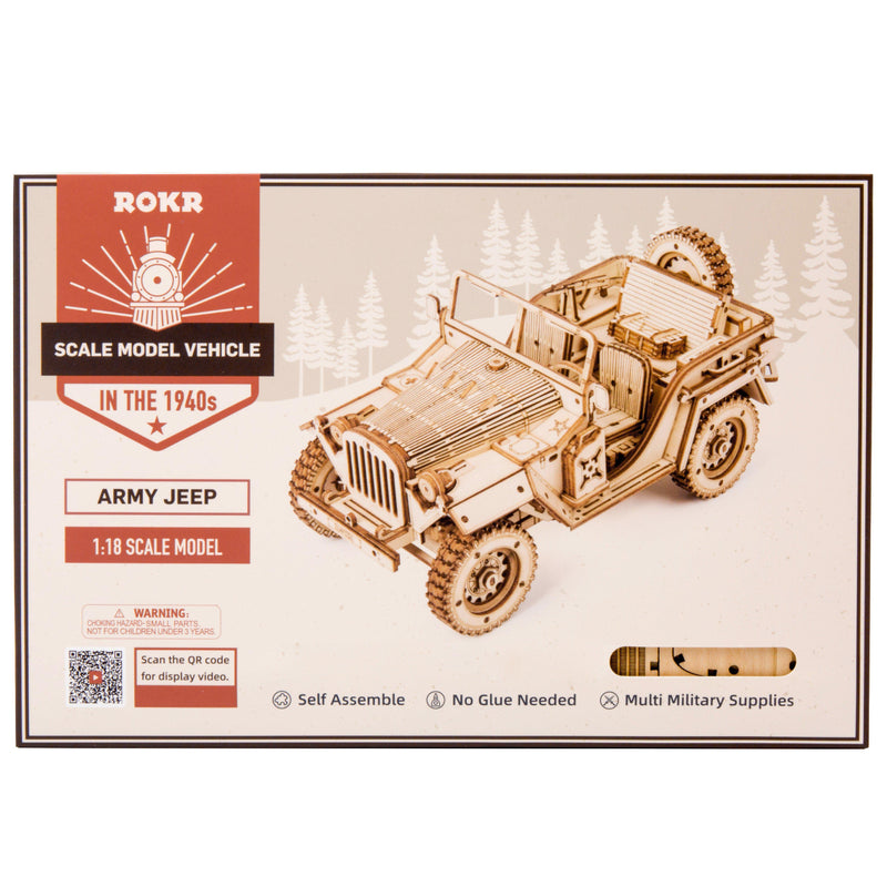ROKR 1:18 Scale Army Jeep-ROKR-At Play Toys