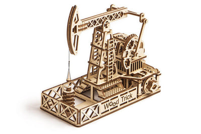 Wood Trick Oil Derrick 3D Mechanical Model-Wood Trick-At Play Toys