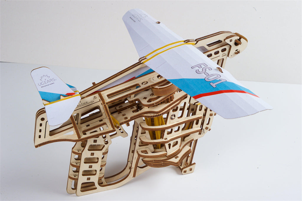 UGears Flight Starter Plane Launcher-UGears-At Play Toys