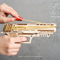 UGears Wolf-01 Handgun Rubberband Gun-UGears-At Play Toys