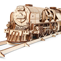 UGears V-Express Steam Train With Tender-UGears-At Play Toys