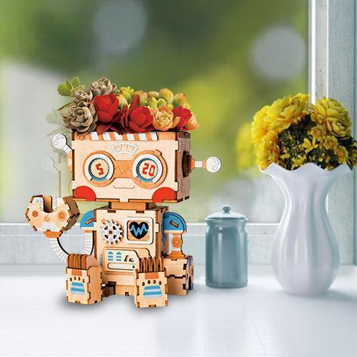 Happy Robot Flower Pot-Rolife-At Play Toys