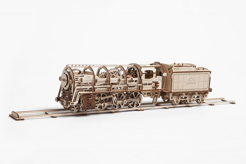 UGears 460 Steam Locomotive w/ Tender-UGears-At Play Toys