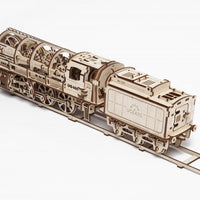 UGears 460 Steam Locomotive With Tender-UGears-At Play Toys