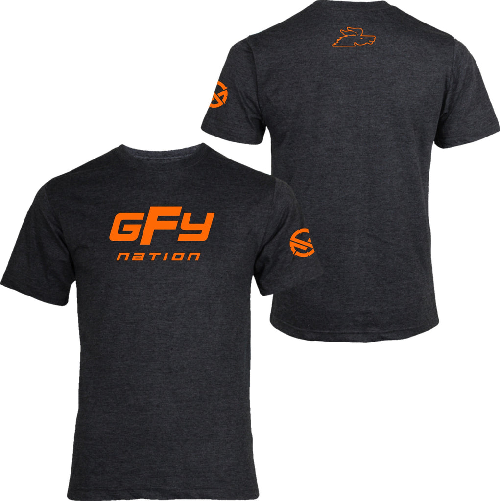 GFY Nation T-Shirt Charcoal Heather