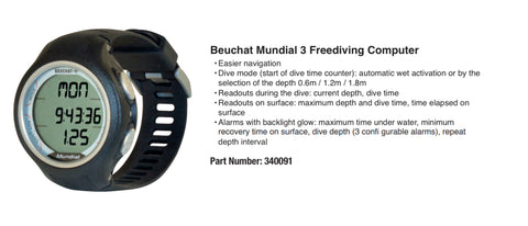 Beuchat Mundial 3 Freediving Computer  from Red Triangle Spearfishing - Red Triangle Spearfishing