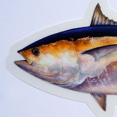 "Bluefin Tuna 8"" Stickers from Amadeo - Red Triangle Spearfishing"