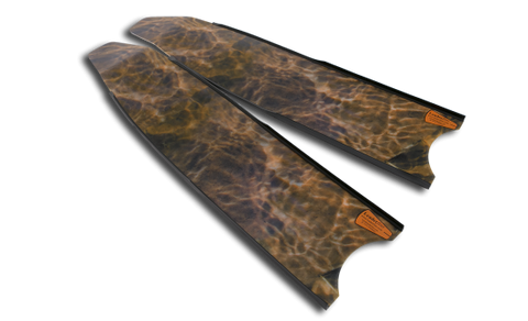 Leaderfins Brown Camo Stereoblades Fins from Leaderfins - Red Triangle Spearfishing